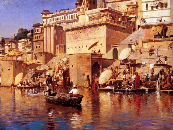 A painting by Edwin Lord Weeks (1883) of Varanasi.jpg