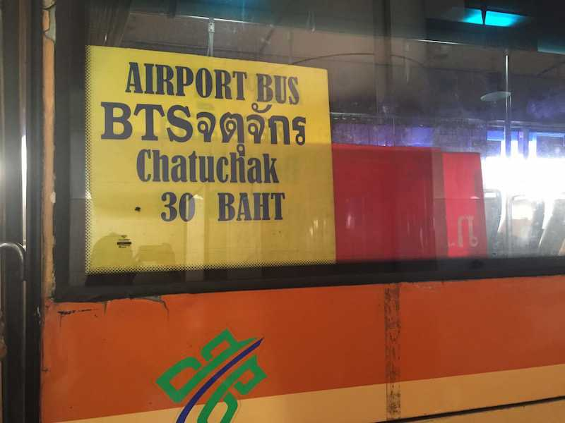 A1 Bus in Don Mueang International Airport.jpg