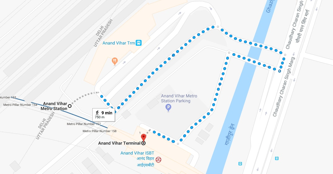 anand vihar metro station to anand vihar railway station by walking.jpg