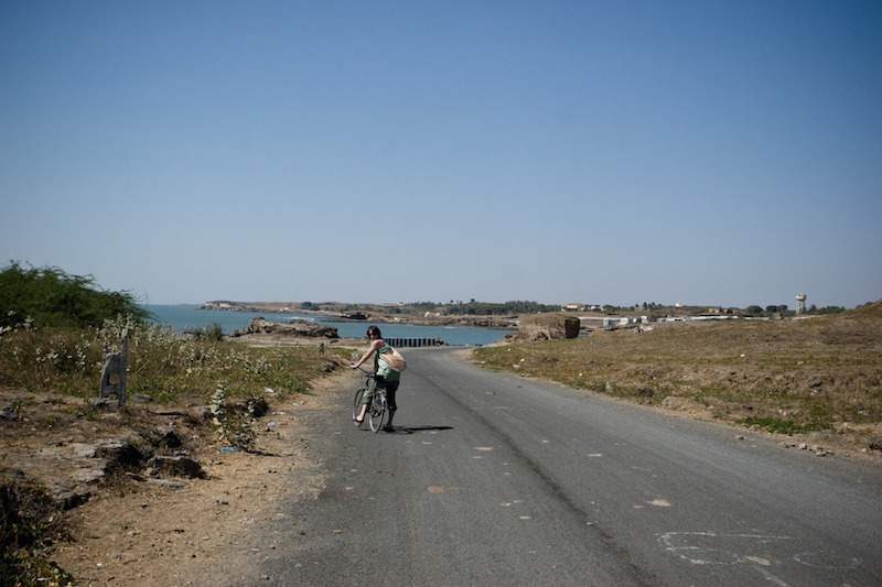 Biking in Diu.