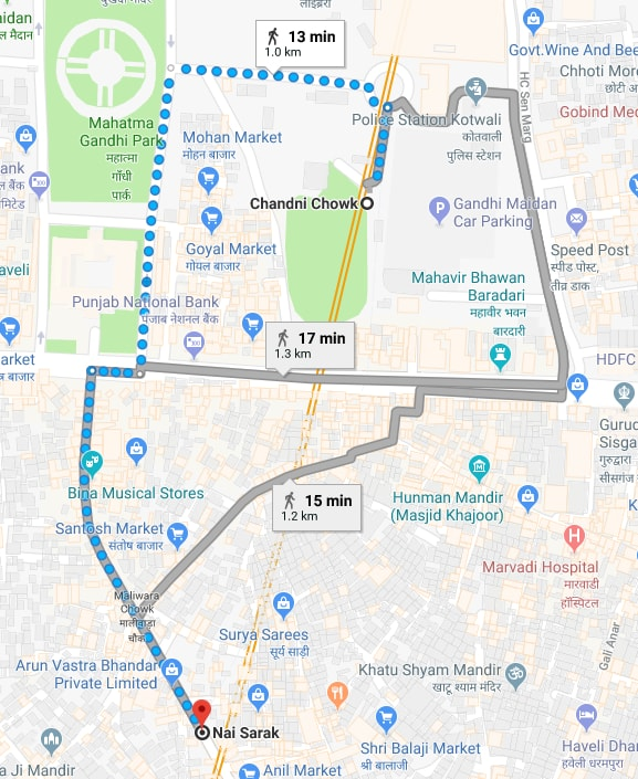 chandni chowk metro station to nai sarak by walking.jpg