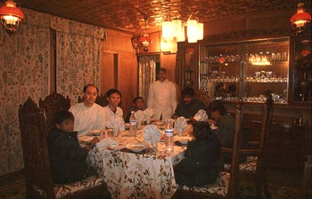 dinner in the houseboat at dal lake.jpg