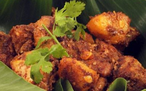 dry chicken curry.
