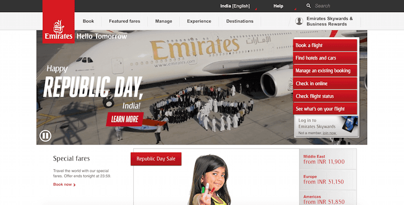 Emirates India toll free number | India Travel Forum