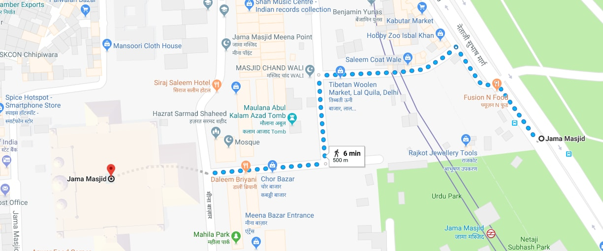 jama masjid metro station to jama masjid by walk.jpg