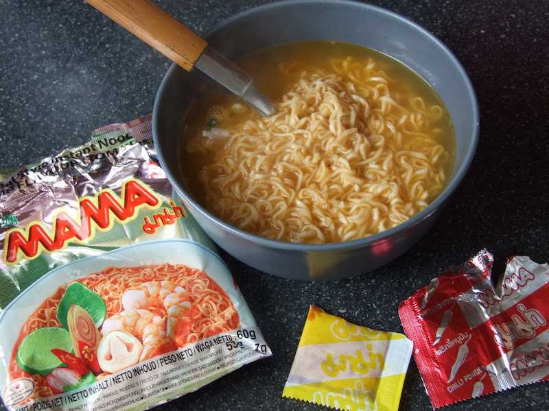 Mama Instant Tom Yum Noodles.