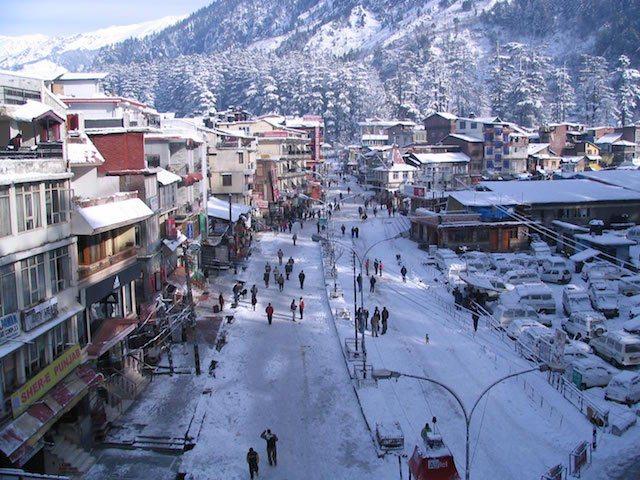 Manali in Winter.