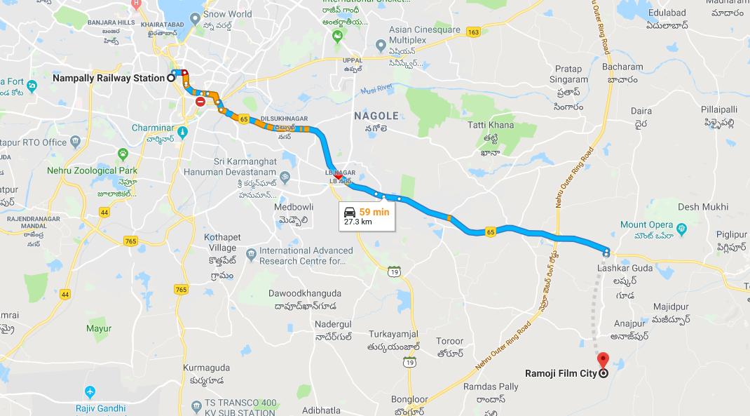nampally railway station to ramoji film city.png
