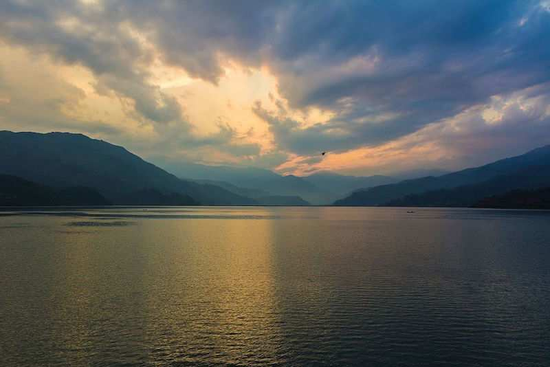 Phewa Lake in Pokhara.