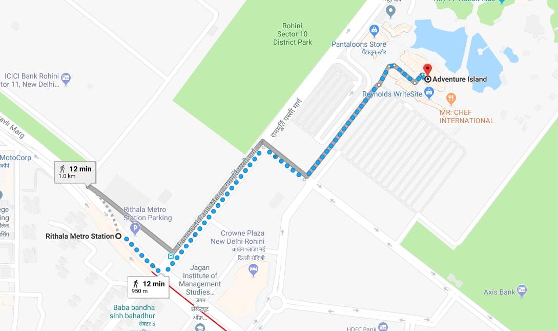 rithala metro station to adventure island by walking.jpg