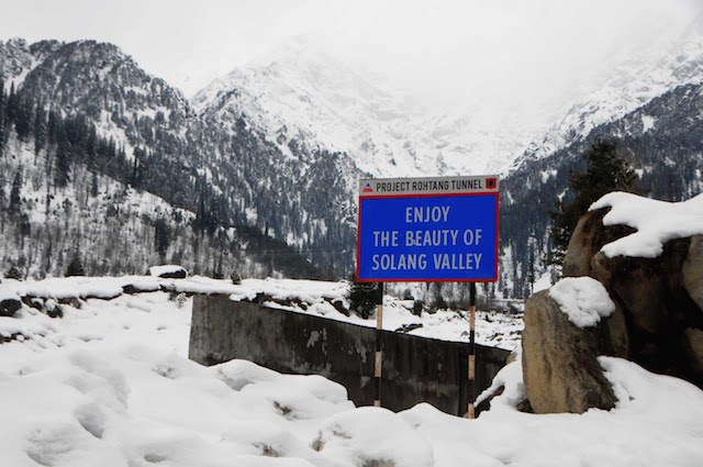 Solang Valley in Winter.
