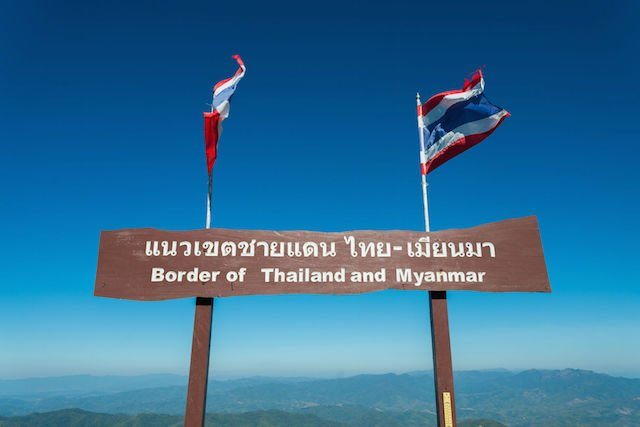 Thailand and Myanmar Border​.