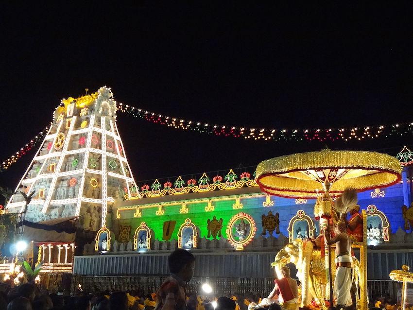 Tirumala Venkateswara Temple in Tirupati.