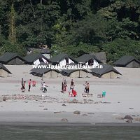 Beach huts at Rishikesh