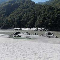 White sand beach, Rishikesh