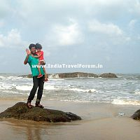 Father-Daughter Duo At Surathkal Beach
