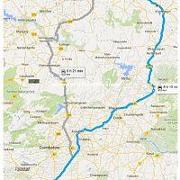 Bangalore - Valparai Route