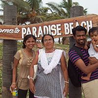 Paradise Beach At Pondicherry