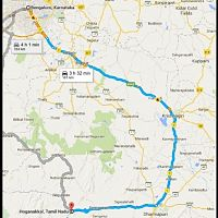 Bangalore To Hogenakkal Road Map