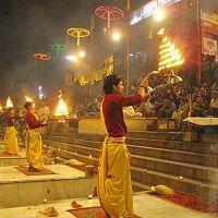 Evening Ganga Aarti at Dashashwamedh ghat Varanasi