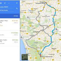 Bangalore To Periyar Route Map