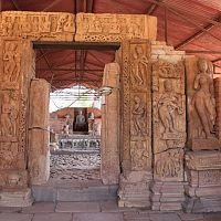 Beautiful Sculptures At Buddha Vihara At Sirpur