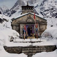 Kedarnath Temple In Winter - Image Credit @ Gozer
