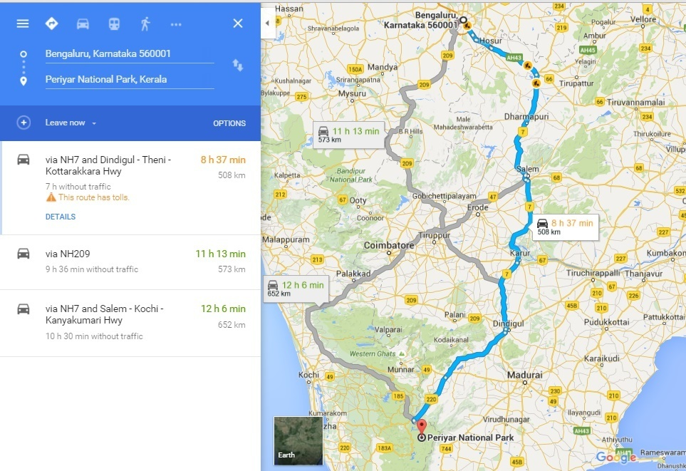Bangalore to periyar route map india travel forum bangalore to periyar route map gumiabroncs Image collections